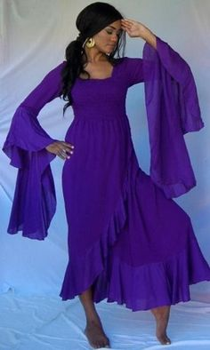 PURPLE DRESS RUFFLE WRAP MAXI HIPPY – FITS (ONE « Dress Adds Everyday
