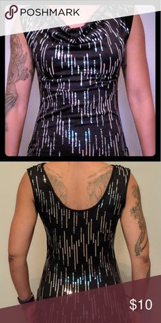 Sale today! Arden B tank top Arden B tank top size xsmall. This top has a beautiful draped neckline, and is sequins embellished. Arden B Tops Tank Tops
