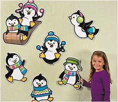 Penguin Party Cutouts (12).  These cute penguins will add some cool style to your themed party decor!