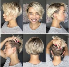 Prom Hairstyles for Short Hair: Tips and advices - Short hair styles - . Prom Hairstyles for Short Hair: Tips and advices - Short hair styles - Short Hair Undercut, Prom Hairstyles For Short Hair, Cool Hairstyles, Hairstyle Ideas, Undercut Bob Haircut, Undercut Hairstyles Women, Pixie Cut With Undercut, Shaved Side Haircut, Side Undercut