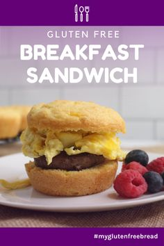 A delicious gluten free breakfast sandwich for an easy, nutritious breakfast! Even when you have no time to make anything for breakfast, you can warm up a breakfast sandwich and head out the door. #glutenfreebread #glutenfreerecipes #glutenfreebreakfast #breakfastfordinner