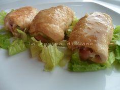 involtini di pollo con scamorza prosciutto e zucchine, ricetta secondo di carne, facile e veloce da fare, ricetta secondo piatto goloso ed appetitoso