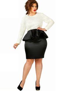 676c6b64e20 Curvy Fashion Find  Plus Size Peplum Dress From Monif C. Curvy Girl Fashion