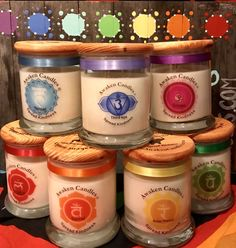 Charka (Set of Soy Candles, Candle Jars, Diy Wax Melts, Spiritual Decor, In Natura, Focal Points, Unique Candles, Candle Magic, Diy Spa