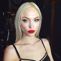 """A flawless glam by celebrity makeup artist ✨@AnthonyhNguyenMakeup✨ for singer and songwriter ✨@IvyLevan✨ with #FlutterLashes demi lashes in """"Roxy"""" paired with gorgeous red lips #BTS"""
