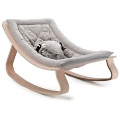 Charlie Crane Levo Baby Rocker - Sweet Grey (€200) ❤ liked on Polyvore featuring home, children's room, children's furniture, nursery furniture and grey