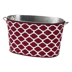 Monogrammed Maroon and White Beverage Bucket with Removable Cover - Mississippi State and Texas A&M