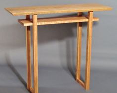 Console Table Narrow Hall Table Entry Table by MokuzaiFurniture
