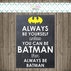 This listing is for a Batman inspired chalkboard sign! Its the perfect detail to help give your childs birthday party or bedroom that perfect First Birthday Parties, First Birthdays, 5th Birthday, Superhero Signs, Batman Party, Doodle Designs, Chalkboard Signs, Shop Signs, Banner
