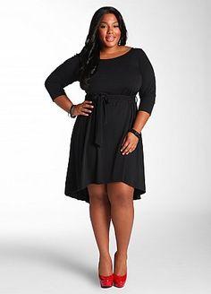 OPEN BACK KNIT DRESS #plus size