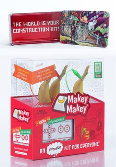 MaKey MaKey - one of the few Kickstarter projects I don't regret backing. Had a lot of fun in the office with it.