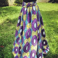 African Print Maxi Wrap Skirt and Dress by OnyiiandCo on Etsy, $85.00