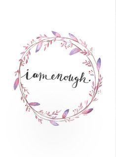 I am enough  Art Print | Etsy