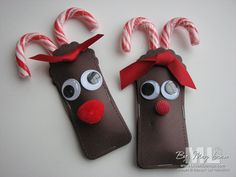 Candy Cane Reindeer two tags die big shot Christmas