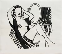 Nude and Mirror, 1990 // by Tom Wesselmann