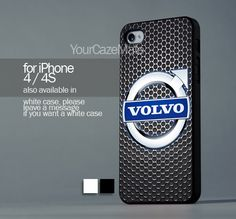Volvo Car Automobile For iPhone 4 or 4S Hard Plastic Black Case   YourCazeMate - Accessories on ArtFire