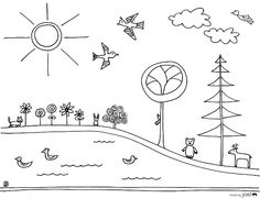 earth day colouring sheet from joel henriquez