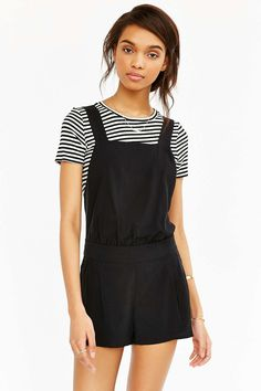 c135ecfc69823 Alice X UO Bamboo Romper - Urban Outfitters Urban Outfitters Clothes,  Dungarees, Playsuits,