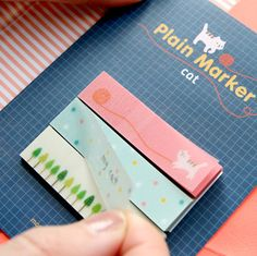 Cat Tracing Index Sticky Note