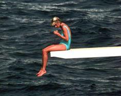 Princess Diana aboard Dodi Al Fayed's yacht that last summer . . .