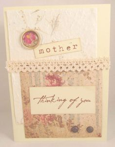 Mother's Day Card  Shabby Chic  Hand Stamped  by PrettyByrdDesigns, $4.00