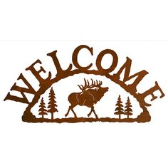 Elk Steel Welcome Sign by CabinExclusive on Etsy