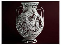 """Chimaera"" - Greek Vase Painting by printedCat Check out www.shapeways.com (3-D printing)"