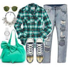 """""""Plaid  Statement Necklace"""" by rusinn on Polyvore"""
