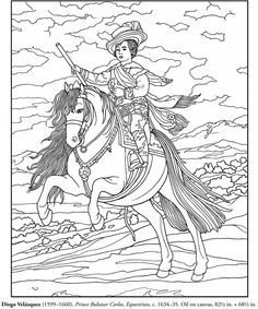 Italian Artist Coloring Pages Dover Publications Dover Coloring Pages, Horse Coloring Pages, Coloring Pages For Kids, Coloring Books, Free Coloring, Thinking Day, Impressionist Paintings, Italian Artist, Line Art