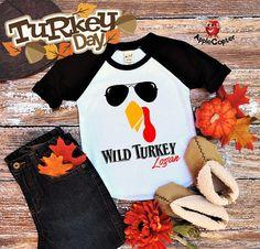 a96c14f8 Turkey Face Thanksgiving T-Shirt, Wild Turkey Shirt, Turkey Costume Kids,  Turkey Trot Race Shirt, Thanksgiving Turkey Shirt, Applecopter