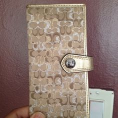 New authentic coach wallet... Gold and silver signature Wallet Coach Bags Wallets