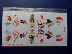 El Mundo del Nail Art: Santa Claus, Muñeco de Nieve y Árbol de Navidad   http://www.ladyqueen.com/1-sheet-merry-christmas-snow-santa-claus-nail-art-transfer-stickers-decals-nail-wraps-na0199.html