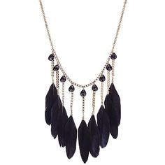 Yoins Yoins Black Feather Pendant Collar Necklace (36 NOK) ❤ liked on Polyvore featuring jewelry, necklaces, accessories, colares, black, long chain necklace, black feather necklace, black necklace, plastic chain necklace and chain necklaces