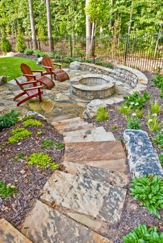 traditional patio fire pit by Property Masters