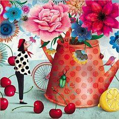 Pinzellades al món: Temporada de cireres / Temporada de cerezas / Season of Cherries