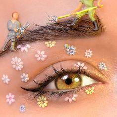 Makeup Goals, Makeup Inspo, Makeup Inspiration, Makeup Tips, Eye Makeup Art, Eyeshadow Makeup, Beauty Makeup, Hair Makeup, Flower Makeup