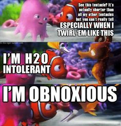 How can you live and BREATH in h20 (water) when your h20 intolerant