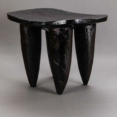 Dark Stained African Senufo Table or Stool | From a unique collection of antique and modern side tables at http://www.1stdibs.com/furniture/tables/side-tables/