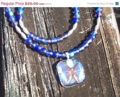 SALE Dazzling blue butterfly pendant set by AliciasFindings, $21.25