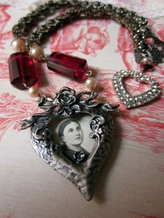 'heart of a saint' necklace by The French Circus on Etsy