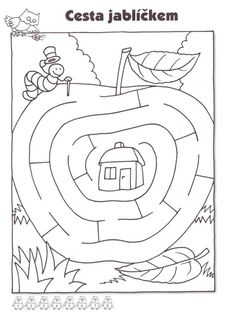 Preschool Worksheets, Kindergarten Activities, Infant Activities, Activities For Kids, Mazes For Kids, Art For Kids, Maze Worksheet, Learn Arabic Alphabet, Fall Coloring Pages