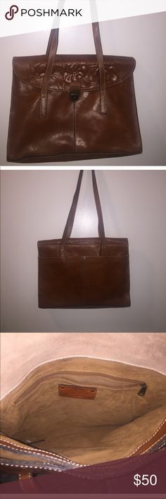 Beautiful Patricia Nash Brown Leather Handbag Brown Genuine Leather, used very little and in over all great condition. Had minor signs of wear and a few small blemishes. Will add more pictures to detail blemishes. Patricia Nash Bags Shoulder Bags