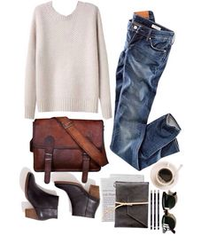 sweater + jeans + boots