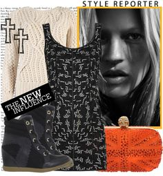"""Wedge Sneaker"" by karineminzonwilson ❤ liked on Polyvore"