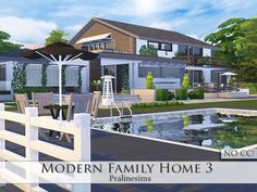 Modern Family Home 3 by Pralinesims at TSR via Sims 4 Updates