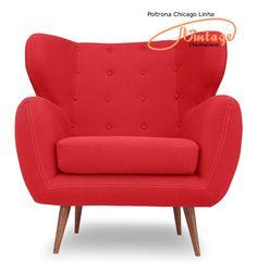 A poltrona Vintage/Retrô Chicago fará diferença na sua sala. Para descansar, ler ou ver tv, além de confortável dará um toque especial na sua decoração.