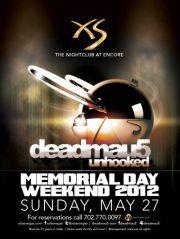 deadmau5 at XS Memorial Weekendhttp://xs.wantickets.com/Events/104357/deadmau5-at-XS-Memorial-Weekend/