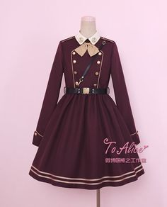 Tomy Bear -Joshua- Military Lolita OP Dress