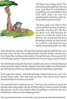 Grade 3 Reading Lesson 11 Fables And Folktales - Two Friends And A Bear (1)