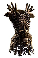 A little too bone-ey perhaps, but otherwise cool. Medieval Costume, Medieval Armor, Bone Weapons, Orc Armor, Fire Giants, Dystopia Rising, Witch Coven, Armor Clothing, Armadura Medieval